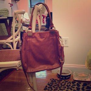 Tan leather Cole Haan purse